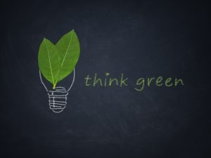 Think green slogan.