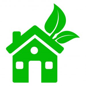 A sustainable property vector image.