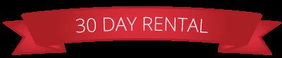 30 Day Rental ribbon